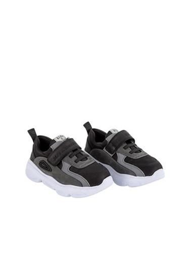 Kids A More Duncan Tek Cırtlı Paraşüt Kumaş Detaylı Deri Erkek Çocuk Sneaker  Siyah